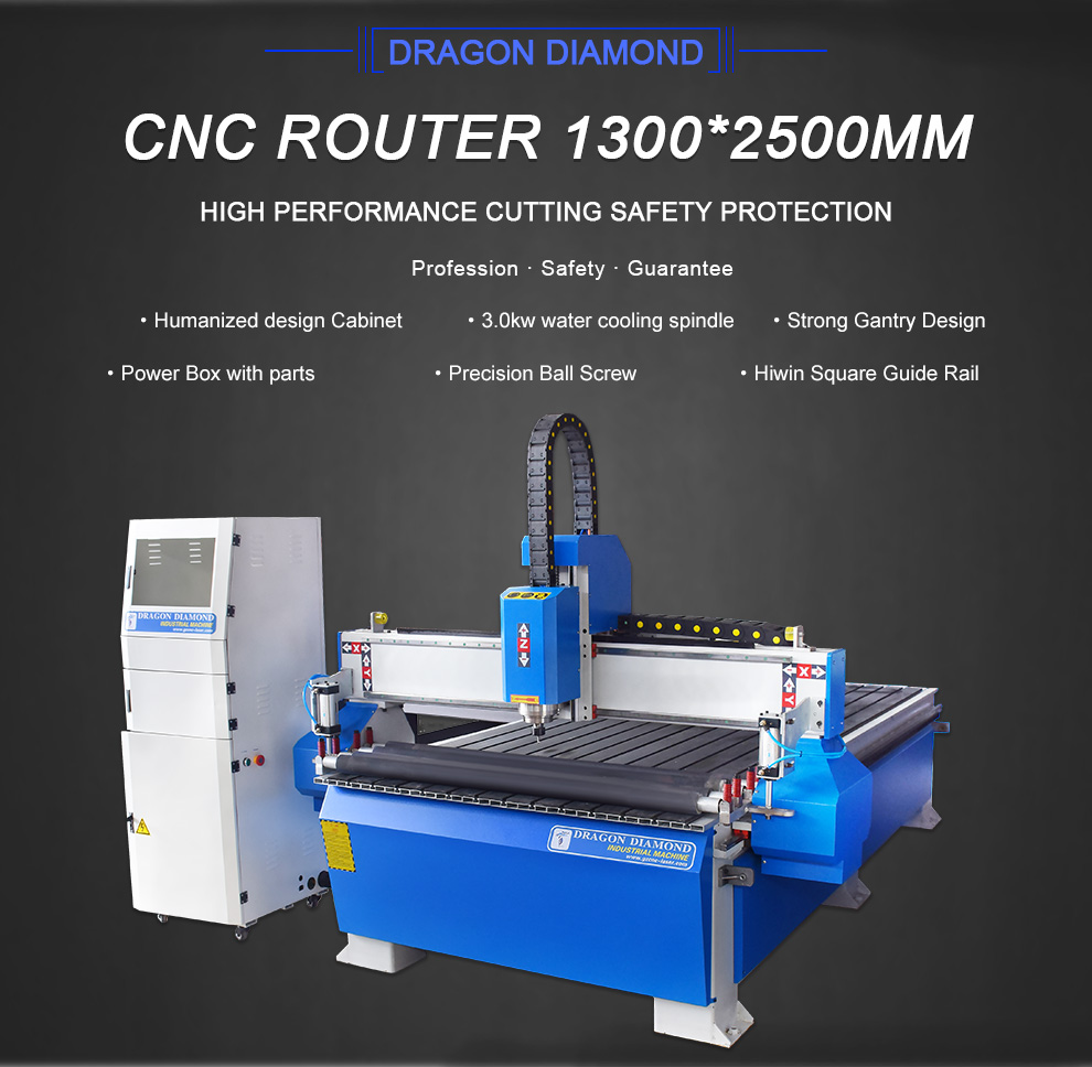 PVC MDF CNC Cutting Router with Rolling