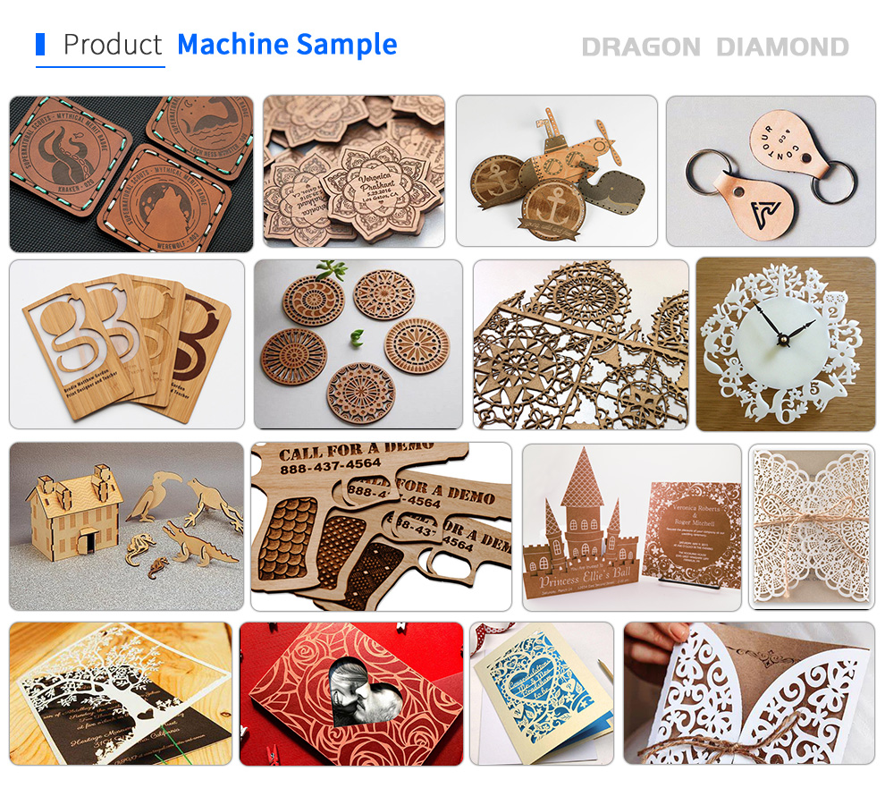6090 Acrylic Stone Leather Laser Cutting Engraving Machine Crafts Products