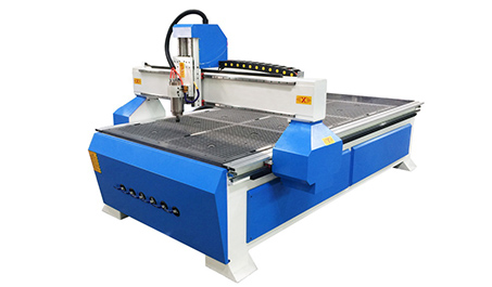 What are the functions of a woodworking engraving machine with a vacuum table?